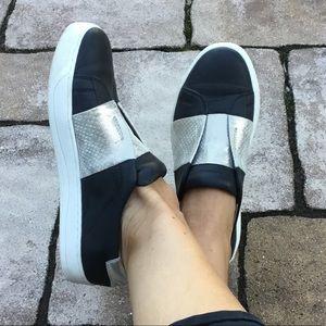 Johnston & Murphy Eden Leather Slip On Sneakers